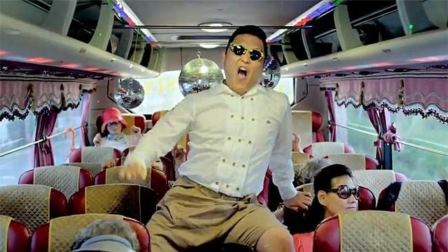 Gangnam Style: K-Pop global smash by the South Korean rapper PSY, praised for catchy rhythm and unusual dance moves.