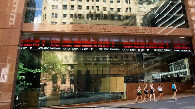 For sale ... The iconic Seven studios will remain at 52 Martin Place, despite the change of owners.