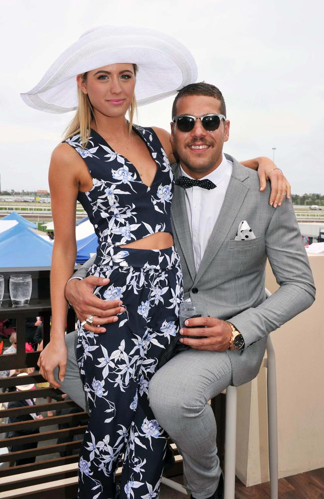 A rare pic of Jesinta Campbell and Lance Franklin together not posted on social media. Picture: Jim Lee