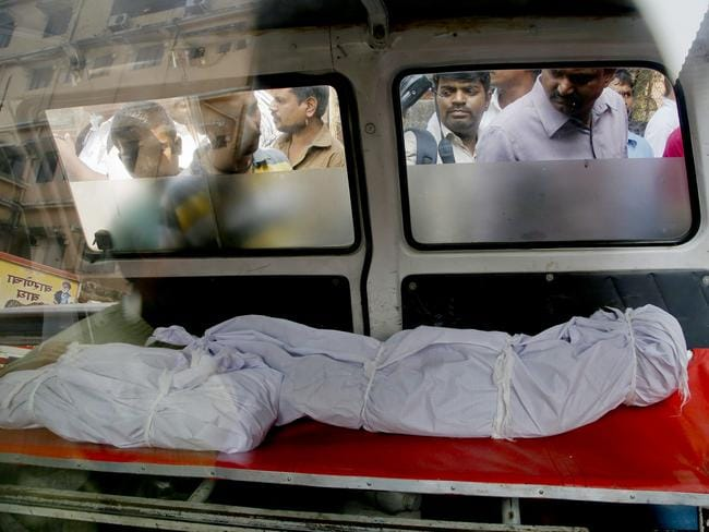 Shocking ... an Indian man allegedly drugged his family members before killing them in Thane, India. Picture: AP Photo/Rajanish Kakade
