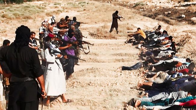 The balaclava-wearing fighters claim to have seven massacre sites.
