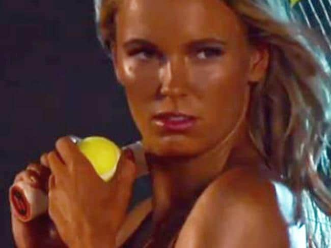 Behind the scenes vision from Caroline Wozniacki's ESPN The Body issue shoot, 2017. Picture: ESPN