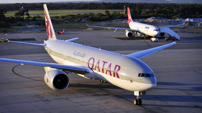 Qatar Airways is promoting its route from Doha to Perth. Picture: Supplied