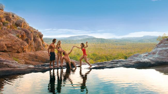 Gunlom Falls at Kakadu National Park, which is among the iconic Australian destinations tourists are missing out on.