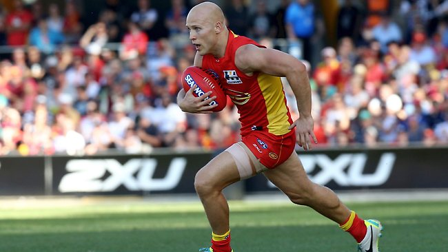 Gary Ablett in full flight for the Gold Coast Suns. Picture: David Clark