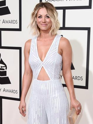 Actress Kaley Cuoco wears a jumpsuit. Picture: Getty