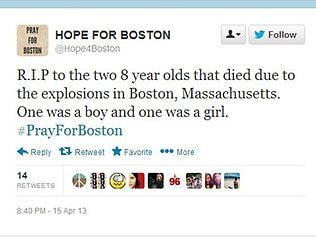 Boston Twitter fake