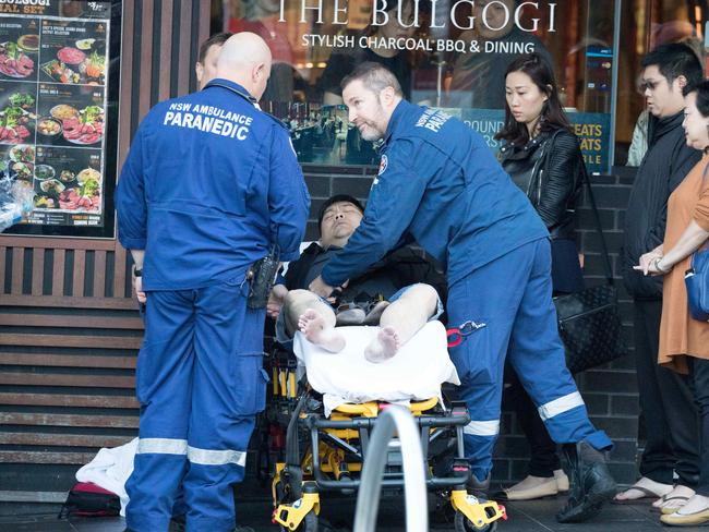 One of the five people injured in the crash. Picture: AAP Image/Ryan Osland