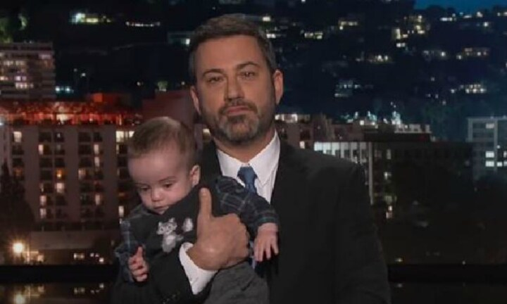Jimmy Kimmel breaks down on TV holding his sick son
