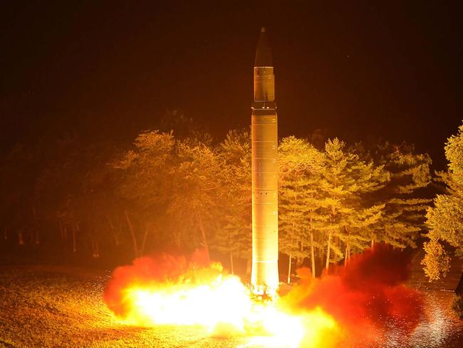 If the ban takes place, North Korea will no longer be able to test its intercontinental ballistic missile Hwasong-14. Picture: AFP/KCNA via KNS