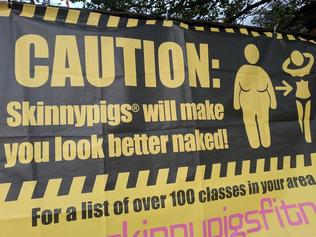 This sign, which was placed near a school, upset a lot of people in the UK. Picture: Twitter