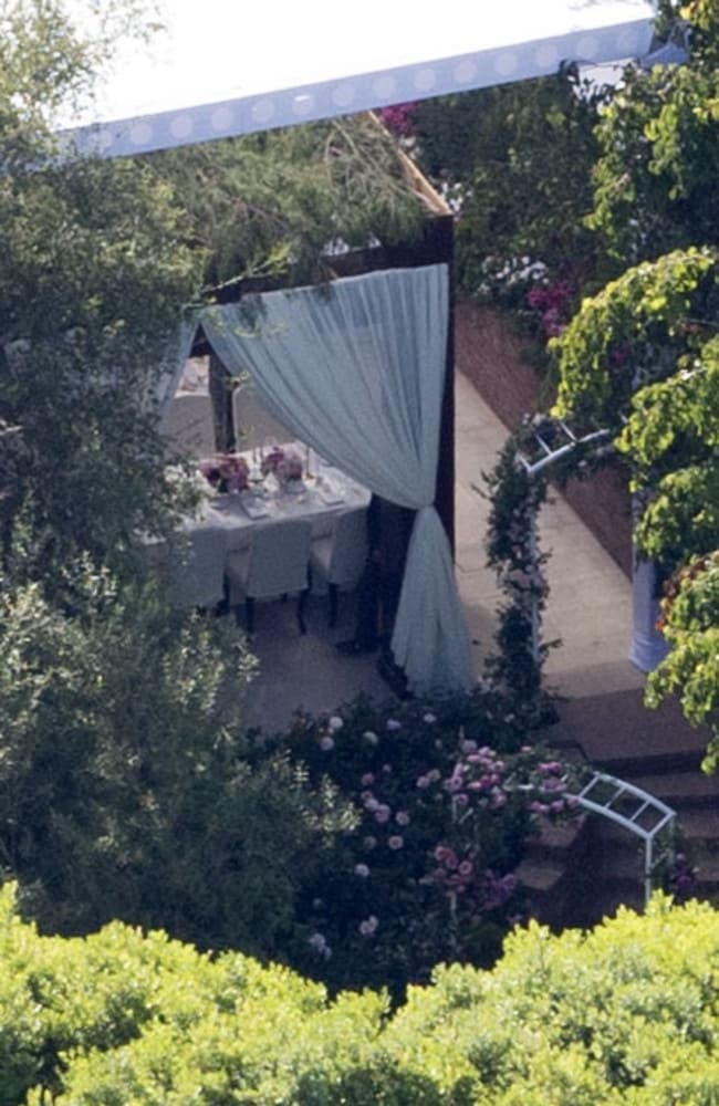 Miranda Kerr and Evan Spiegel tied the knot in an intimate ceremony at their home in Brentwood, California. Picture: Splash News