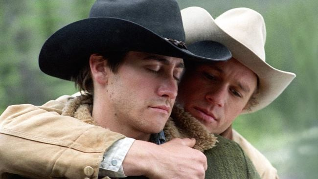 Jake Gyllenhaal and Heath Ledger. Photo: Supplied