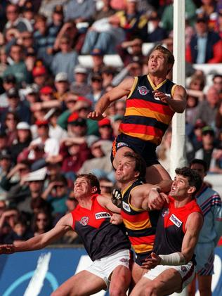Modra gets on top of the pack in 1996.