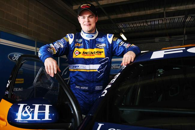 Moffat made his Supercars debut with the team as a co-driver in 2010.