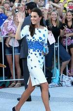 Large crowds cheer and try to catch a glimpse of Catherine, Duchess of Cambridge as she does a walkabout on the South Bank on April 19, 2014 in Brisbane. Picture: Getty