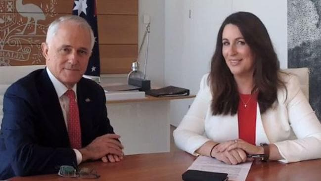 Prime Minister Malcolm Turnbull interviewed by the Daily Telegraph's columnist Miranda Devine live on Facebook. Picture: Nicholas Eagar