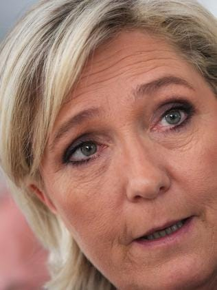 Marine Le Pen wants France to quit Europe. Picture: AFP/Richard Bouhet