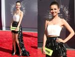 Victoria Justice walks the red carpet at the 2014 Video Music Awards, the VMAs. Picture: Getty