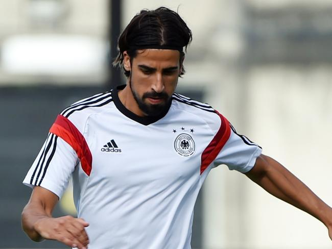 German midfielder Sami Khedira was forced out of the World Cup final with a calf injury during the warm-up.