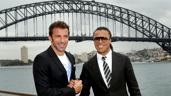 Juventus legends Edgar Davids and Alessandro Del Piero launch the A League All Stars match
