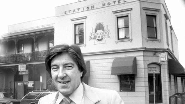 Happier days: Fred Cook outside his pub, the Station Hotel in Port Melbourne. Picture: Supplied