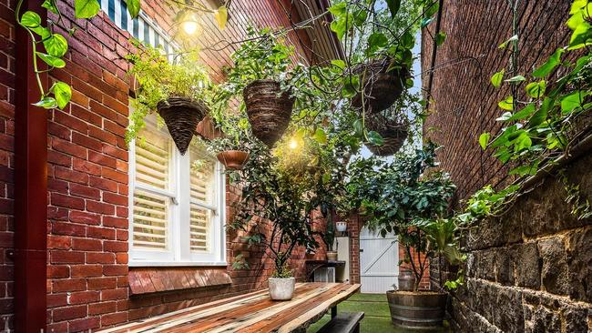 A spacious courtyard was one of the property's main drawcards.