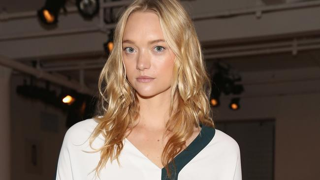 Dion Lee fan: model Gemma Ward attended his fashion showing appearance during New York fashion week (Photo by Mireya Acierto/Getty Images)