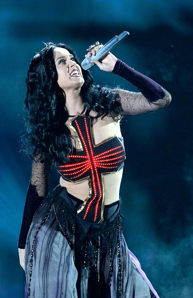 Katy Perry performing at last month's Grammy Awards. Picture: Getty Images