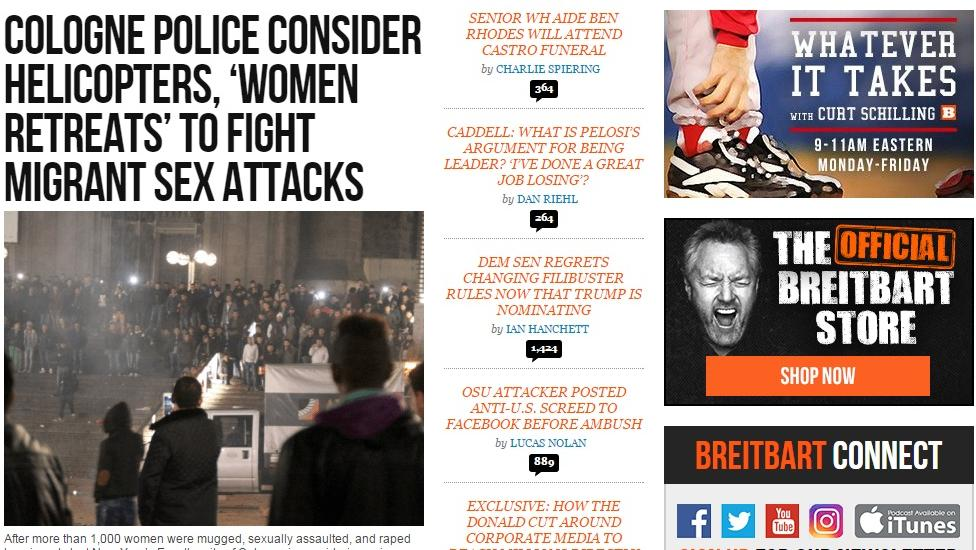 Kellogg will no longer advertise on Breitbart.com.