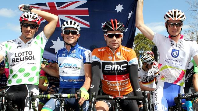 The Tour Down Under finale is to be run on Australia Day - on Sunday. Picture: SARAH REED.
