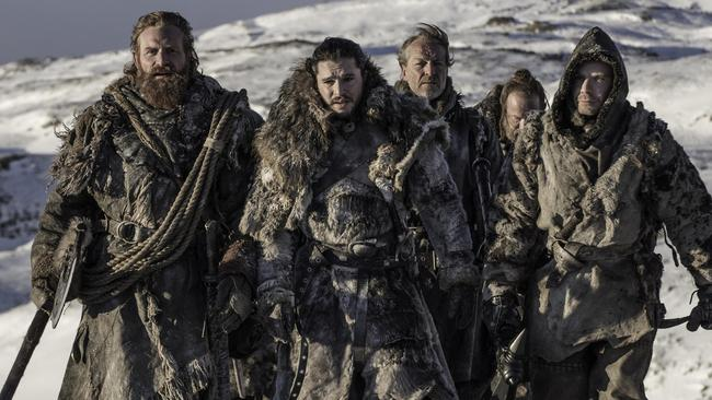 This motley crew went beyond the wall in episode six. Picture: HBO