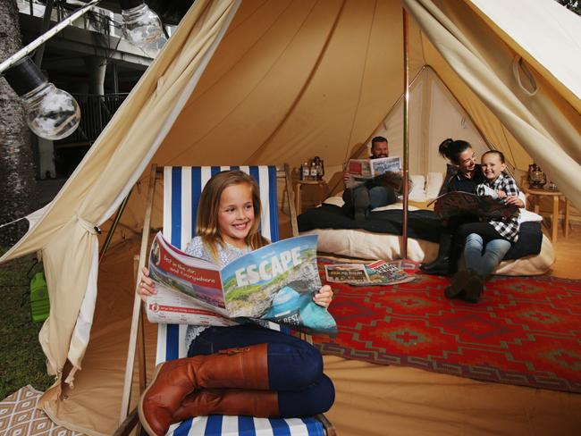 Win a Glamping Experience at The Royal Easter Show. Picture: Toby Zerna