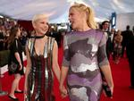 Michelle Williams and Busy Philipps attend The 23rd Annual Screen Actors Guild Awards at The Shrine Auditorium on January 29, 2017 in Los Angeles, California. Picture: Getty
