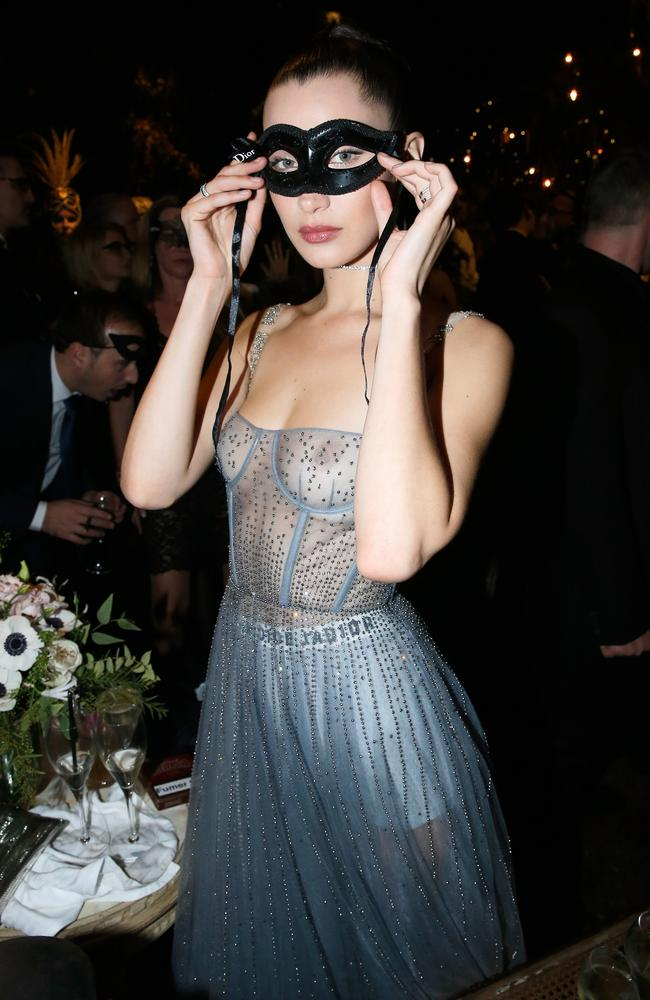 Bella Hadid joins Kendall Jenner at Christian Dior event in sheer ...