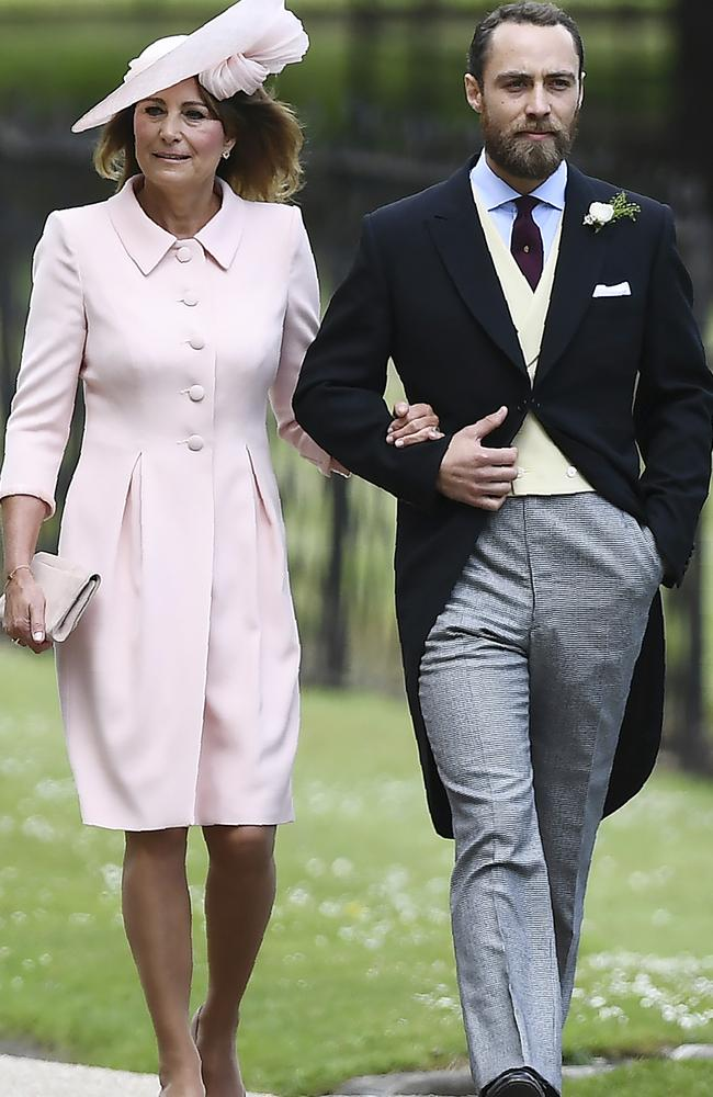 Carole Middleton and her son James. Picture: AP