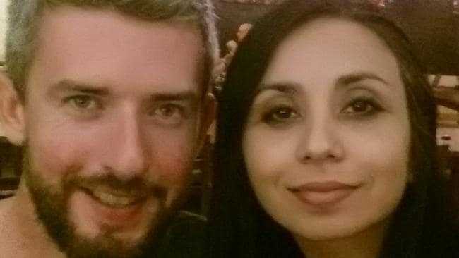 Brisbane couple Colin Conroy and Alexandra Montoya plan to boycott Uber in future. Picture: Supplied