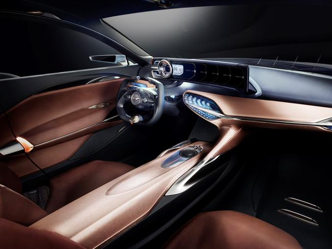 The luxurious interior of the new Hyundai Genesis G70. Picture: Supplied.