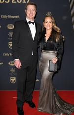 Steve and Suyin Menzies at the 2017 Dally M Awards held at The Star in Pyrmont. Picture: Christian Gilles