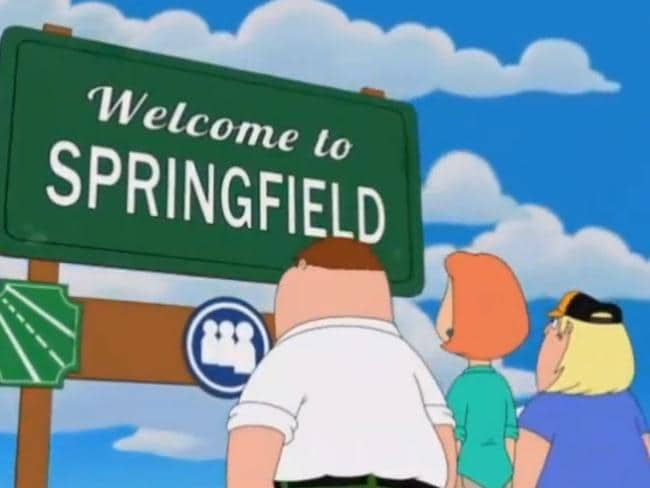Peter, Lois and Chris Griffin take on Springfield.