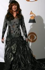 Another repeat offender, Cher wears what can only be described as a whole lot of material at the 2008 awards. Picture: Valerie Macon/AFP