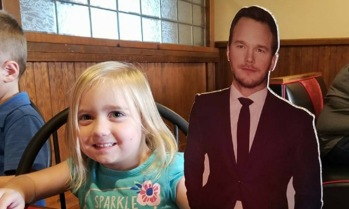 This little girl has a bigger crush on Chris Pratt than all of us