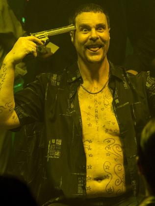 First pictures of Aaron Jeffery as Mark 'Chopper' Read. Picture: Supplied