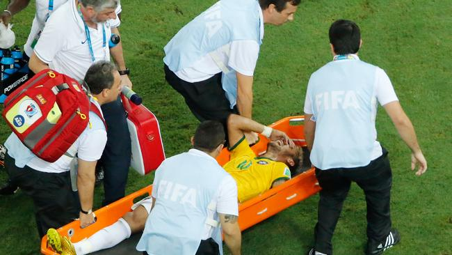 Neymar's pain is obvious.