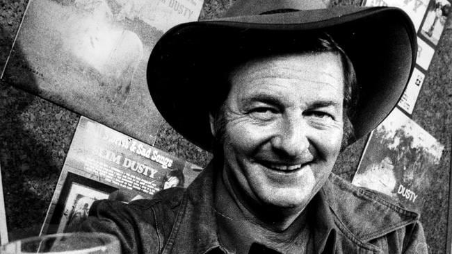A true icon ... Slim Dusty was working on his 106th album when he died in 2003.