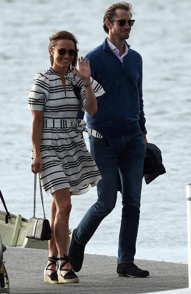 The newlyweds have been spotted out and about in Sydney, including Rose Bay Wharf, this week. Picture: AFP/Saeed Khan