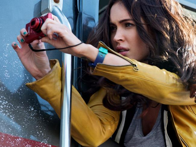 Megan Fox stars as April O'Neil in the new movie.