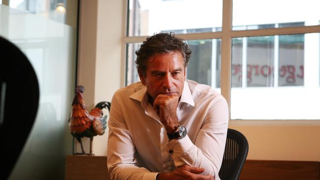 Being pensive won't make you any money, but Mark Bouris says most of his investments are in his own companies. Picture: News Corp