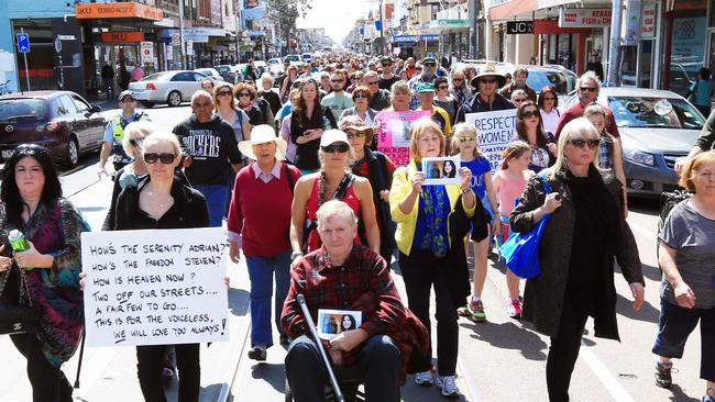 Three days after Bailey was charged, 30,000 people took part in an anti violence demonstration in Sydney Road.