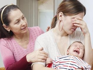 Family support is important for post natal depression. Thinkstock picture.